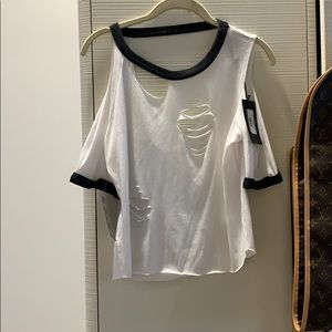 Chaser Deconstructed Roll Tee NWT